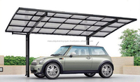 Popular and Fashionable aluminium carports with arched roof by LIXIL