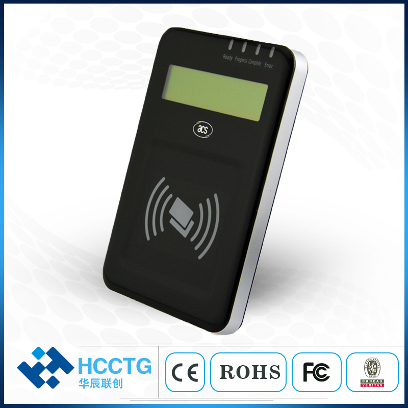 RS232 Mi fare ISO14443 NFC Card Reader With LCD ACR122L