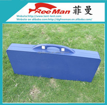 Popular suitcase portable ABS plastic folding picnic outdoor table