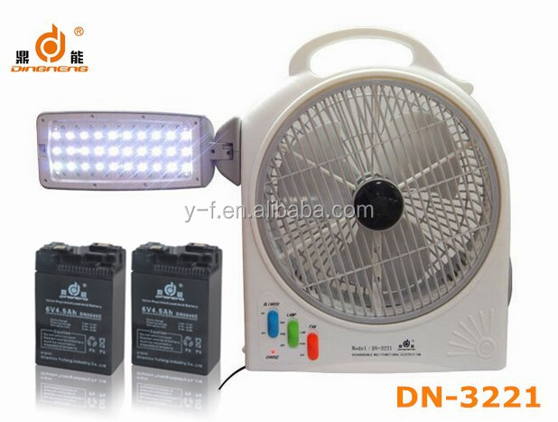 DINGNENG portable 8-10 hours long time emergency led solar rechargeable fan