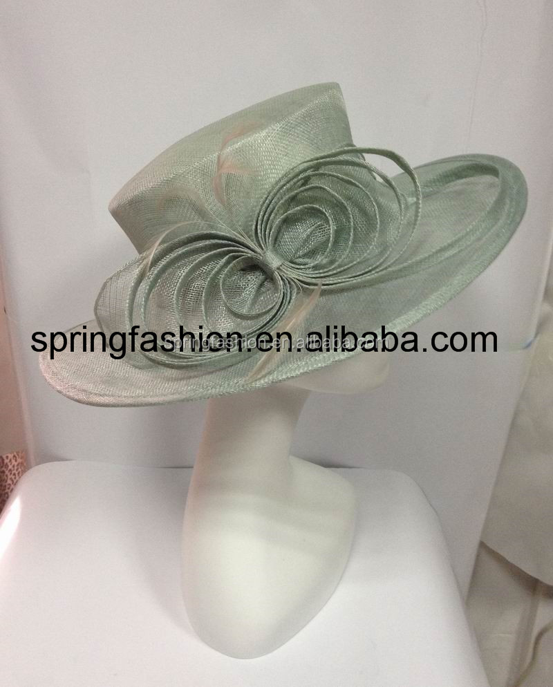 Mint green church hat,dress hat,sinamay hat,party hat,wedding hat,Kentucky Derby hat available in any colors