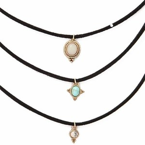 Wholesaler fashion 3 times multilayer ruby necklace pendant necklace