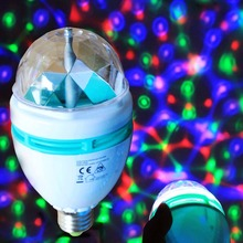 CE ROHS REACH approved 3W power RGB colors rotating party decoration led bulb