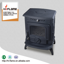 China Supplier Factory Direct Selling Cast Iron Wood Burning Furnace and Wood Stoves with Back Boiler and Glass Door HF332B