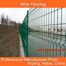 Wire metal fence 4 curve 5mm wire 50*150 aperture pvc-coated surface green colour concrete fence