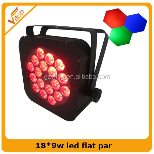 Hot Slim par Led 18pcs 9w Rgb 3 in1Led Flat Par Can / Led Par Light