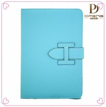2015 Custom design genuine leather case 7.85 inch tablet case cover for ipad