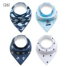 China wholesale promotion baby christmas bibs bandana 100% organic cotton multifunctional baby bibs