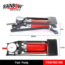 High quality single cylinder foot pump with gauge fit