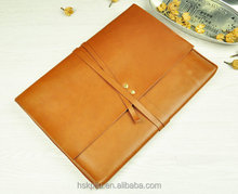 quality new 13inch leather laptop sleeve for mackbook with strap
