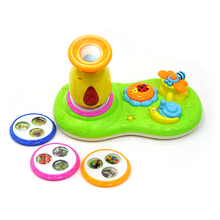 Funny microscope baby educational toys with music & light