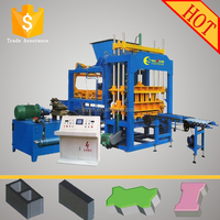 QT5-15 eco concrete hollow bricks manufacturing machine