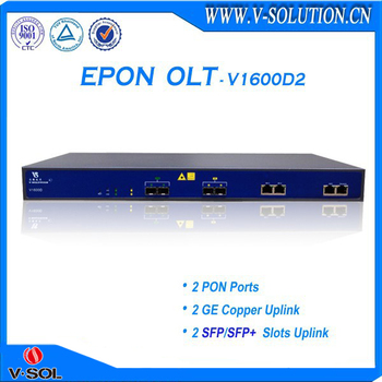 CE Certificated 1U 2PON Layer 3 Route ftth epon olt Support SNMP Telnet CLI