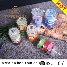 For European market cheap price soy wax scented glass jar decorative candles for holiday