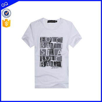 High quality custom printed fashion design men wholesale price tee shirt