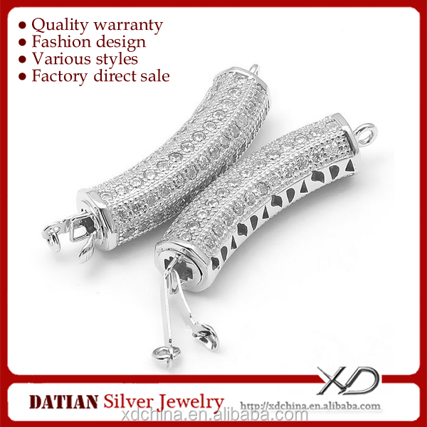 XD <strong>K101</strong> 925 sterling silver cz long bracelet clasp