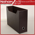 NAHAM modern desktop leather magazine file holder for wall