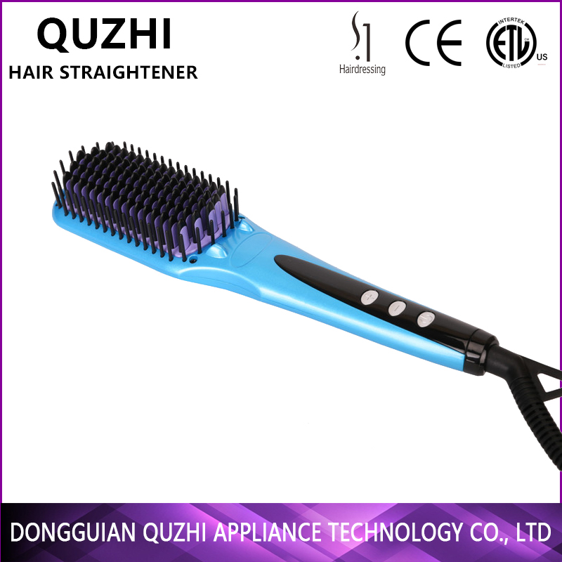 salon equipment beauty straightening comb hair straightener brush temperature controller