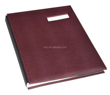Fashion Design PU Cover Signature Folder/Signature Book