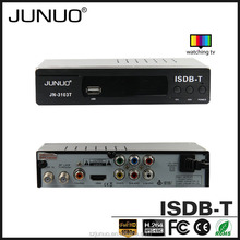 JUNUO china manufacture OEM producefull HD 1080P USB2.0 free to air chile tv isdb-t hd decodificador