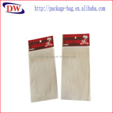 custom printed opp adhesive backed plastic bags with header