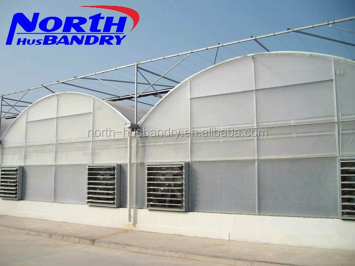 greenhouse seed bed exhaust fan cooling pad