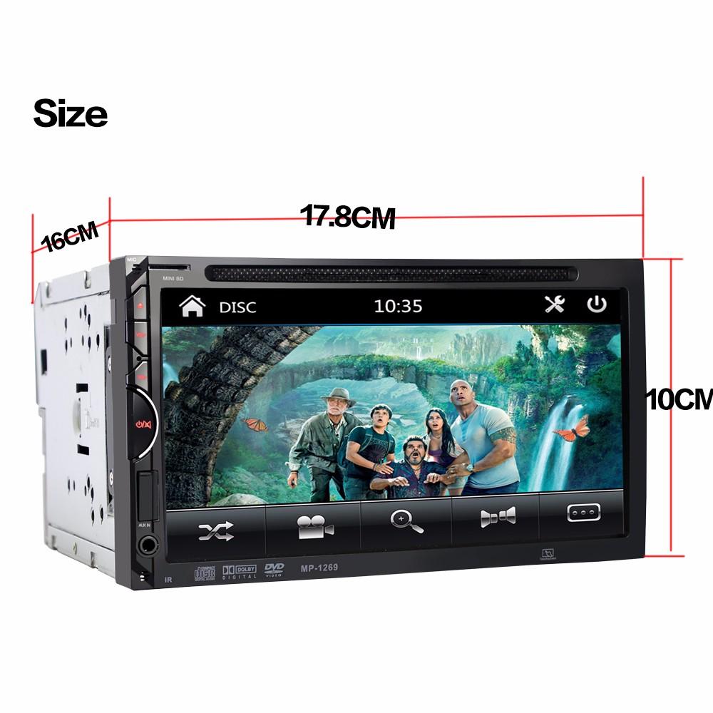 Autoradio Dvd Player 7 Inch In-dash Stereo Video 2 Din Dvd/usb/sd ...