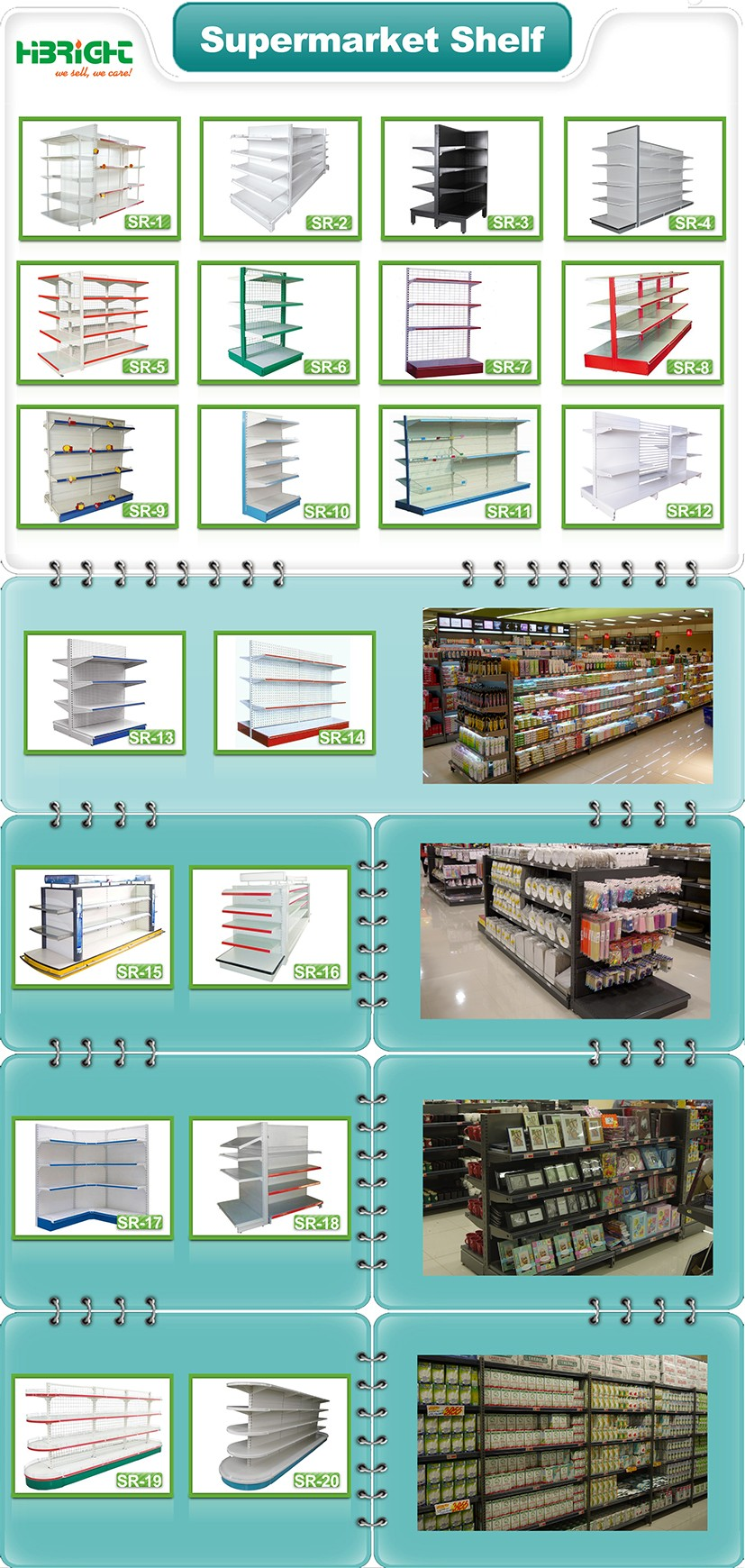 supermarket shelf and checkout counter equipment