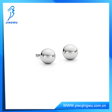 925 Sterling Silver Jewelry Ball Stud Earrings in Platinum