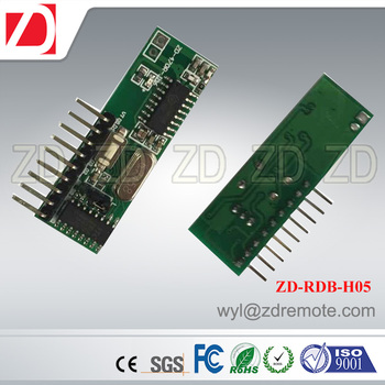 ZD-RDB-H05 wireless 433MHZ learning code decoding superheterodyne receiver module