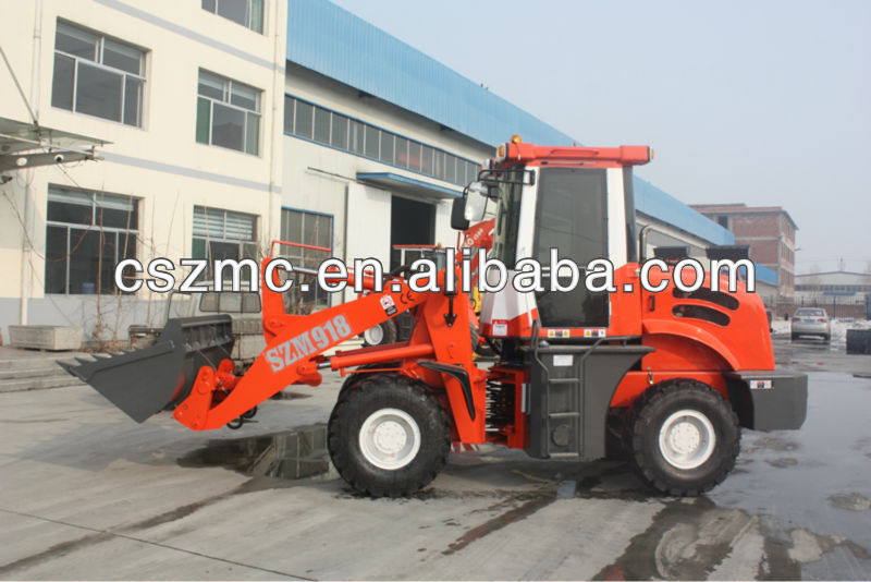 used kubota tractor mini wheel loader zl-12 912 loader with Euro3 engine hydraulic joystick pallet fork high quality best price