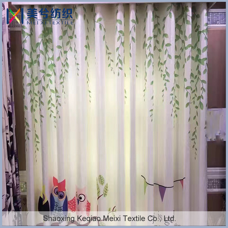 willow designs full dull blackout with 3d printing window curtain