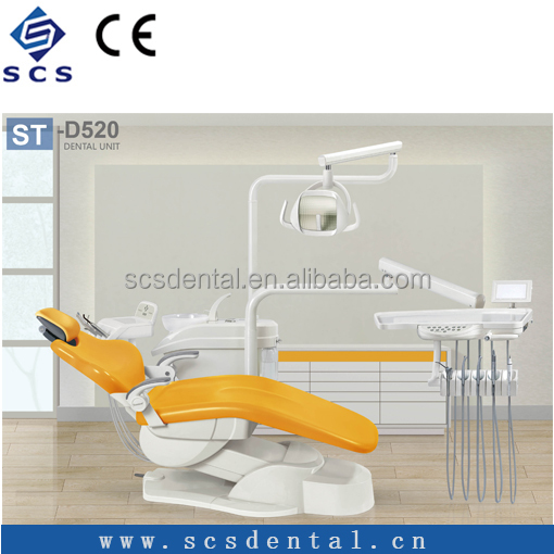 Electric Dental Chair Unit down-mounted china Dental with led light