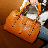 Women's Fashion 5 Colors PU Leather Handbag,Stylish Woven Bag, Solid Bag, Shoulder Totes 8152