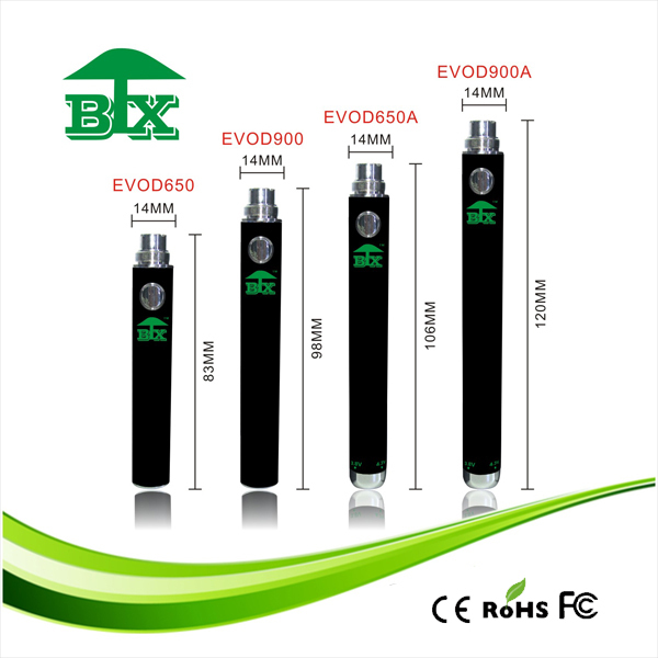 Ecig rechargeable evod battery mini evod ecig evod battery vape pen battery