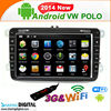 Android systems support DIY wallpaper double din car dvd gps for VW Polo
