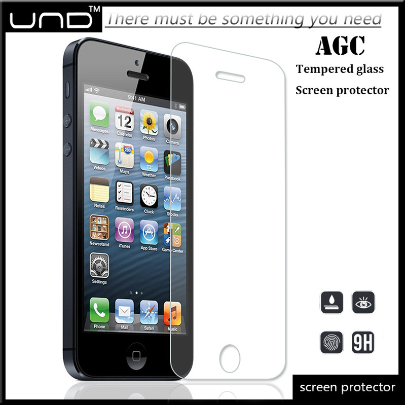 Factory price 9h HD high clear tempered glass screen protector for iphone 5 5s 5c OEM/ODM