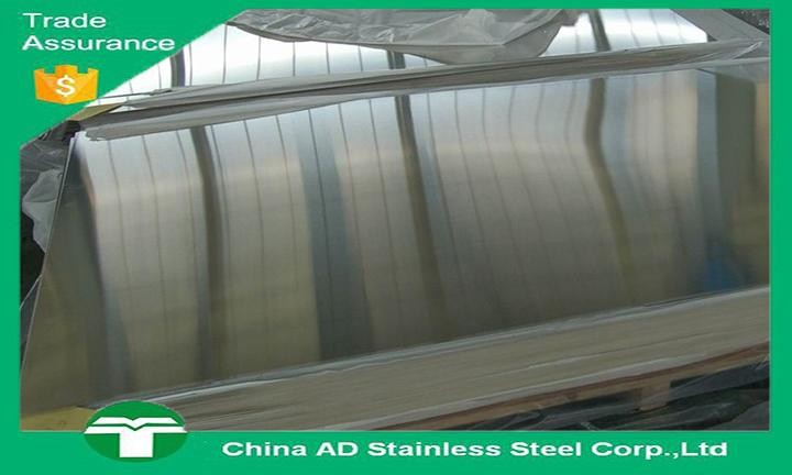 Export 430 polished bright surface mirror stainless steel sheet with PVC Coated