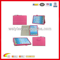New arrival pu leather case for ipad 5 with hand strap,case for ipad 5 oem china