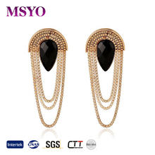 MSYO brand Europe and America tassel earrings wholesale gold earrings designs for girls earrings women
