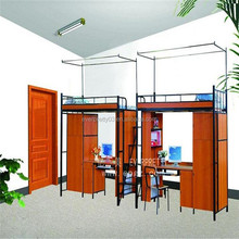 Cheap Wooden Dormitory school Bunk Bed with Ladder for Wholesale