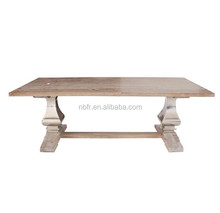 Latest design high quality solid wood and stainless steel dining table kitchen table