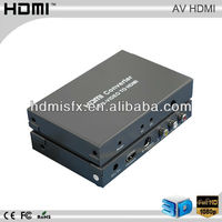 134X89X22 (mm) AV/S-video to HDMI Converter by AWG26 hdmi cable with DDC signal 5Volts p-p (TTL) output