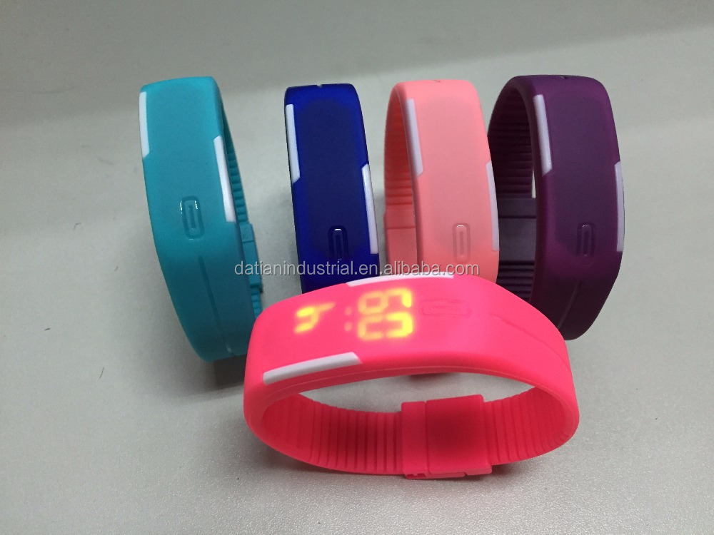 Personality Unique Unisex Colorful Silicone Jelly Band LED Digital Sports Watch