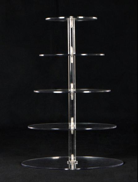 5 tiers clear acrylic cake stands rotating cake stand