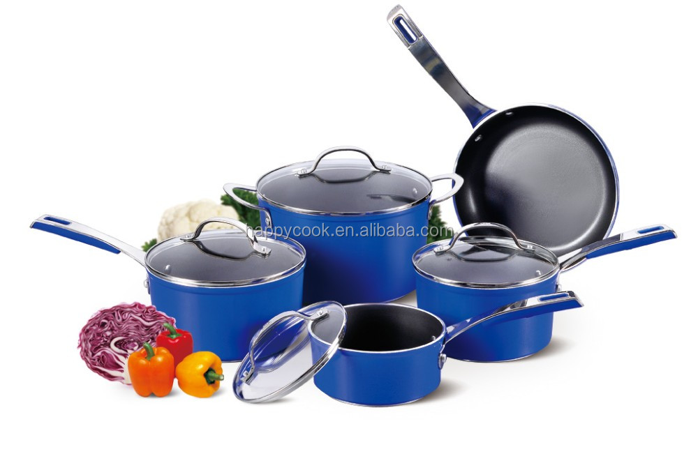 Blue Forged aluminium non-stick hotel cookware