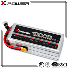 China Quality Battery Supplier Rechargeable RC LiPo Battery 14.8V 4S 10000mAh 20C Li-Polymer Lithium ion Lion