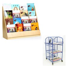 Wholesale cheap price high quality wooden preschool furniture kids bookshelf