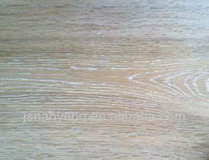 white grain, brushed, smoked Russia Oak 3-layer 1-strip parquet flooring
