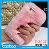 Luxury Bling Crystal Fox Rabbit Fur Case For iPhone 6 6s real rabbit hair leather phone case